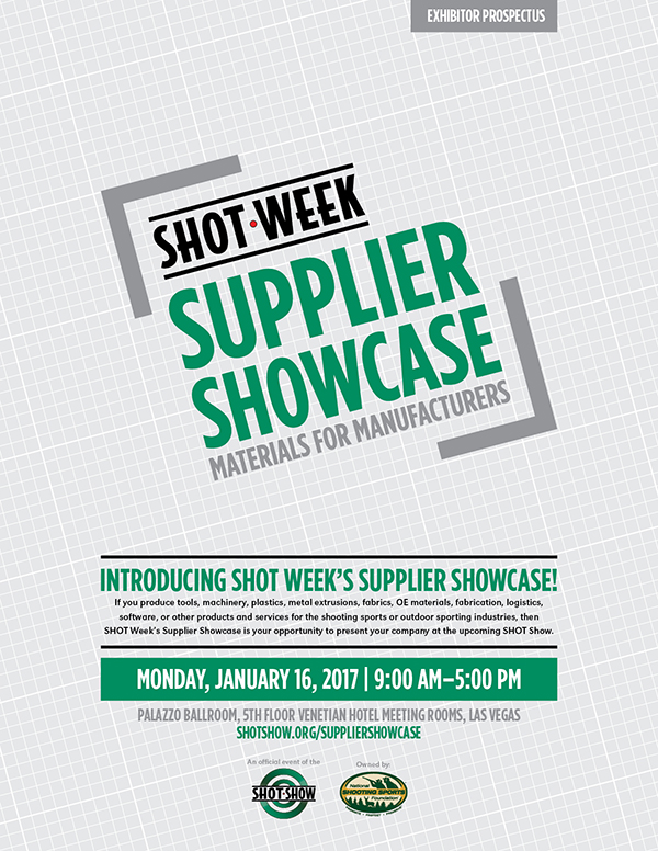 SHOT Show 2017 Supplier Showcase Exhibitor Prospectus_COV