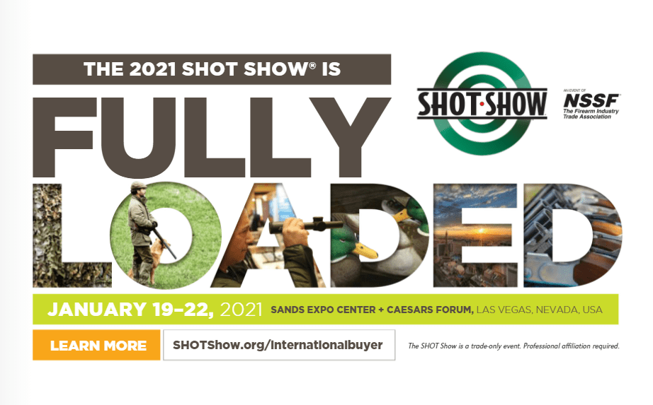 Cover of the 2021 SHOT Show multilingual brochure