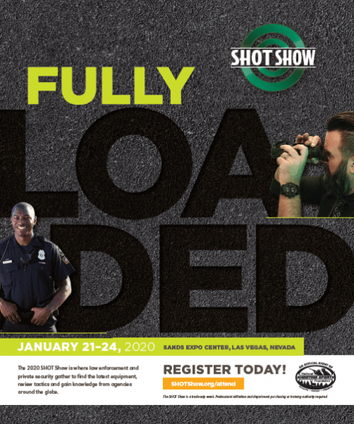Cover of SHOT Show 2020 Tactical Planner for law enforcement