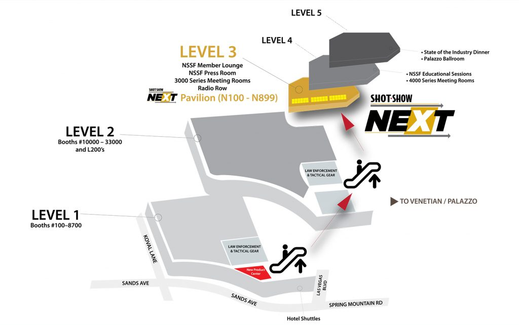 SHOT Show NEXT Pavilion Floor Map