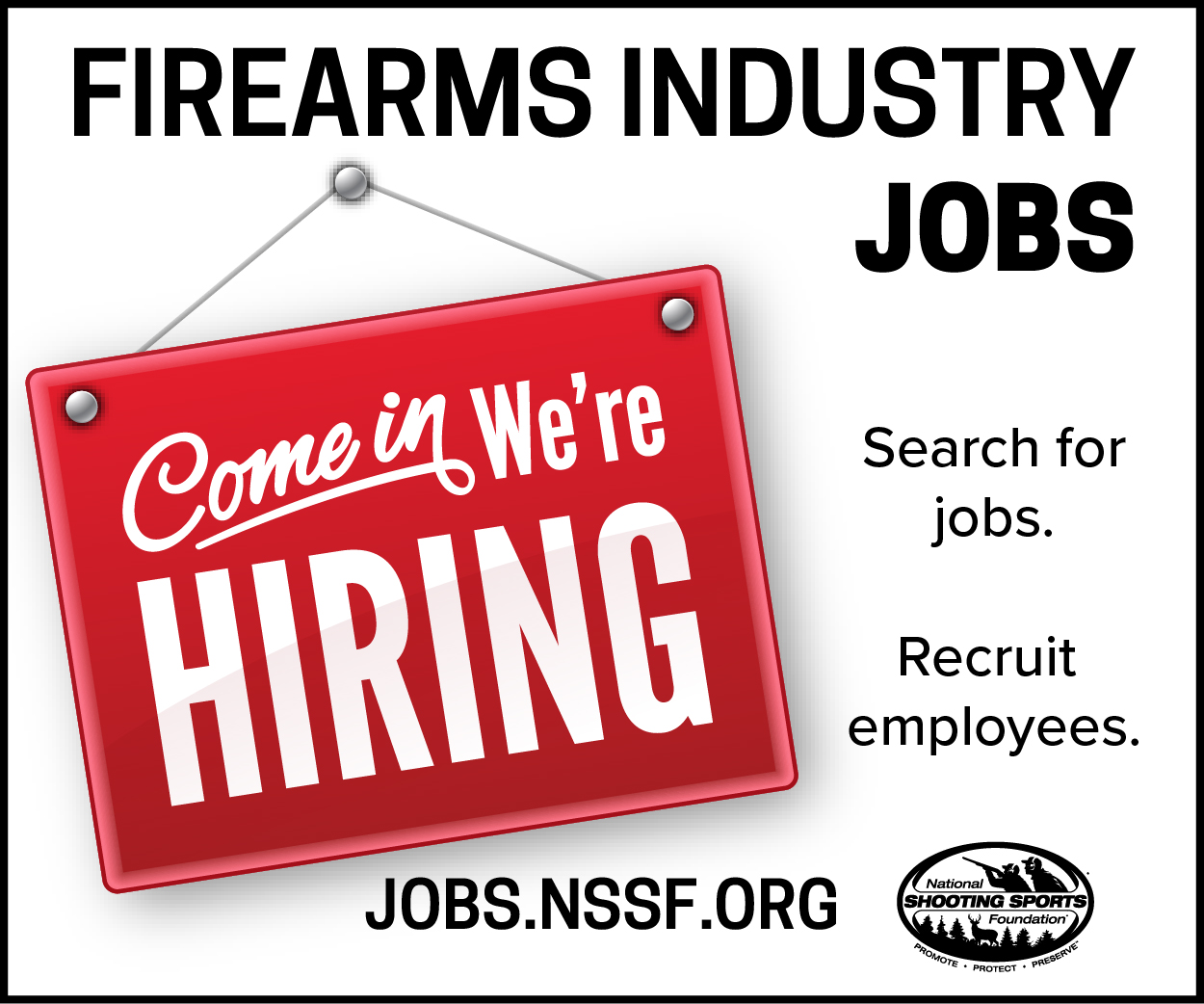NSSF career center for firearms industry jobs